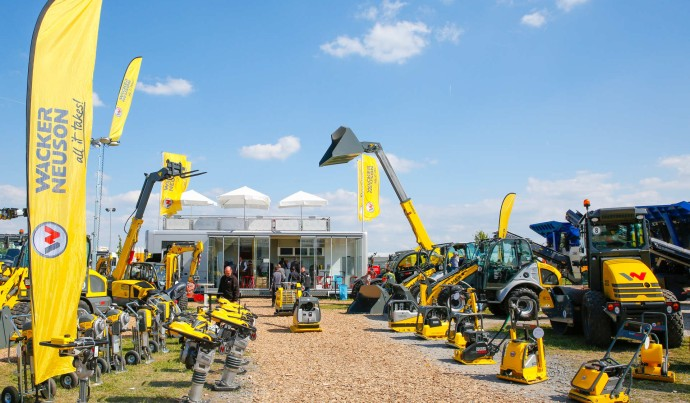Wacker Neuson outdoor demonstration area